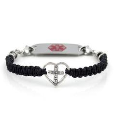 Cross My Heart Medical ID Bracelet from Lauren's Hope Medical ID. #laurenshope #laurenshopeID #medicalID
