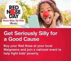 Get Seriously Silly for a Good Cause. Red Nose Day, Thursday May 26, 9/8C NBC.