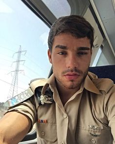 This gorgeous man is Israeli Defense Forces, FYI, they are all like him in Israel :)