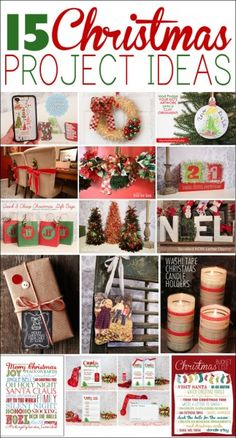 15 Christmas project ideas - Very cute! Christmas Blocks, Merry Christmas, Christmas Projects, Christmas Holidays, Christmas Ideas, Xmas Deco, Holiday Crafts, Holiday Fun, Decoration Christmas