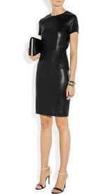 The RowWonlo paneled stretch-leather dress