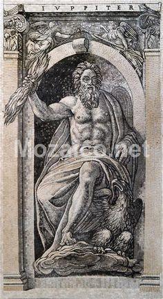 Jupiter God Marble Mosaic Masterpiece