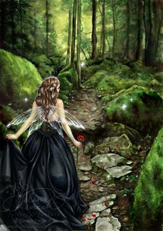 Along the Forest Path by Selina Fenech. Don't usually go for mystical art, but thought that this fairy strolling thru a forest was fun