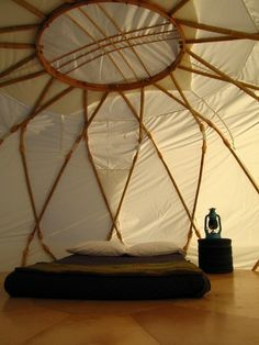 a YURT, my kind of camping Images Hippie, Camping Nature, Yurt Living, A Well Traveled Woman, Bohemian House, Camping Glamping, Camping Stuff, Under The Stars, Outdoor Rooms