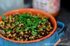 Panfusine: Adapting from Classic Recipes: Israeli couscous & Beluga Lentil 'Khichdi'