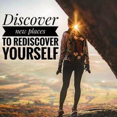 Do this frequently to rediscover yourself. Travel Quotes, Facts, Movie Posters, Movies, Life, 2016 Movies, Film Poster, Films, Popcorn Posters