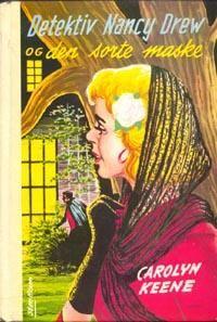 """""""Detektiv Nancy Drew og mysteriet med den sorte maske"""" av Carolyn Keene Den, Baseball Cards, Reading, Books, Movies, Movie Posters, Libros, Films, Book"""