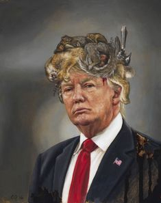 The Untitled Space Gallery's newest exhibition speaks out against Trump and the country's current political climate.