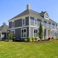 gray colonial house