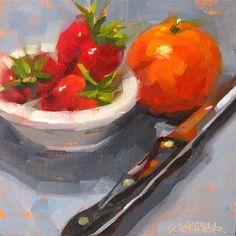 """Mandarin On Edge"" - Original Fine Art for Sale - © Karen Werner"