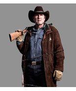 Real Cow Suede Leather Winter Coat Jacket Sheriff Walt (Robert Taylor) Longmire