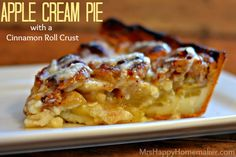 Apple Cream Pie with a Cinnamon Roll Crust