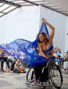 Exotic dance on wheelchair