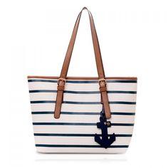 Casual Stripe and Pendant Design Shoulder Bag For Women, WHITE in Shoulder Bags | DressLily.com