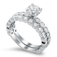 Timeless Designs Diamond Engagement Ring and Band available at Houston Jewelry!