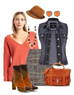 """""""Jeans and pumpkin"""" by danieluska ❤ liked on Polyvore featuring Gap, Etro, FOUR BUTTONS, maurices, Matisse, Proenza Schouler, jeans, jeanjackets and pumpkin"""