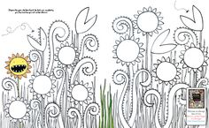 sample printable coloring and activity pages from Usborne workbooks in French