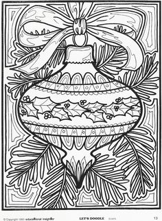Old school Christmas coloring pages- mommy will probably be doing a few of these…
