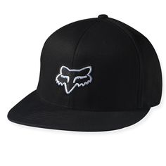 """The Fox Racing """"The Steez"""" hat has front and back flat embroidery and is a 210 fitted, pro bill, No curve hat and is made of 87% acrylic, 11% wool and 2% Polyurethane Spandex."""