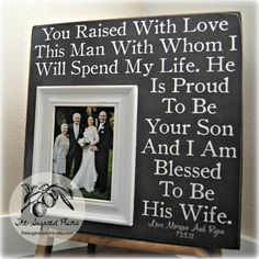 Parents Of The Groom Gift Mother Of The Groom Father Of The Groom Parents Thank You Gift Wedding Personalized Picture Frame X