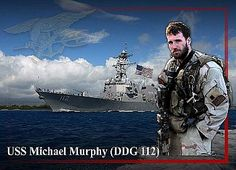 A photo illustration of the guided-missile destroyer USS Michael Murphy (DDG 112). The ship will be named after Lt. Michael P. Murphy (Sea, Air, Land) who was posthumously awarded the Medal of Honor for his actions during combat in Afghanistan on 27 and 28 June 2005. U.S. Navy Photo Illustration by Mass Communication Specialist 2nd Class Jay Chu (Released)  080507-N-5025C-003
