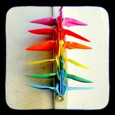 Rainbow Peace Cranes Photo