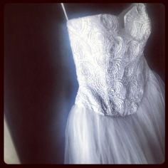 white gown...