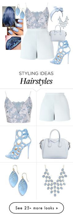 """""""~ sky"""" by moniquedawson09123 on Polyvore featuring Topshop, Delpozo, Giuseppe Zanotti, Givenchy, Alexis Bittar and Charlotte Russe"""