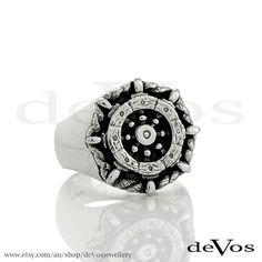 Ship Wheel Ring by deVosjewellery on Etsy