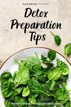 Detox preparation tips. - Suzanne Tapper, Acupuncture and Natural Medicine Natural Medicine, Acupuncture, Fertility, Detox, Health, Tips, Food, Health Care, Advice