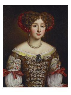 Portrait of Anna Maria Louisa De' Medici (1667-1743), Half Length, in a Brown Dress By Jacob Ferdinand Voet