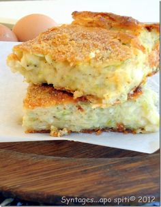 Zuchini Pie with feta cheese Greek Recipes, Pie Recipes, Snack Recipes, Cooking Recipes, Cypriot Food, Quiche, Delicious Desserts, Yummy Food, Greek Sweets