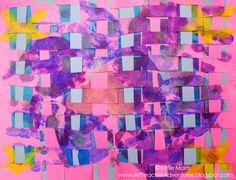 Adventures of an Art Teacher: Paper Weaving: Beyond the Checkerboard Part 3