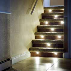 Led Strip Lights Home Depot Lighting For The Home Illuminate The Staircase Leading To The