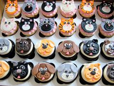 Puppy & Kitty cupcake toppers
