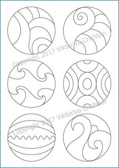 Strings for drawing your zentangles in a circle. Tangle
