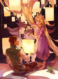 Rapunzel and Eugene fan art - Tangled by rahurns on deviantART Anime Disney Princess, Disney Pixar, Disney Animation, Arte Disney, Disney Fan Art, Disney And Dreamworks, Disney Cartoons, Disney Magic, Disney Characters