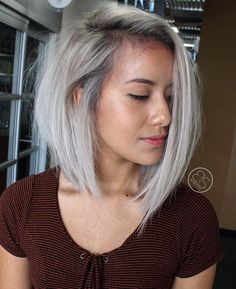shadowed roots, used fanola 'no yellow' shampoo for the white in her hair