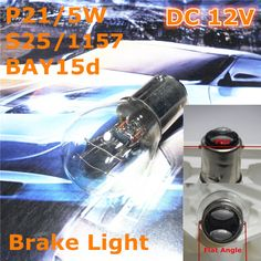 Stock Shipping New 12V General Halogen Car Lamp P21/5W S25 BAY15d Flat-Flat Angle Double Pad For Front Back Brake Light