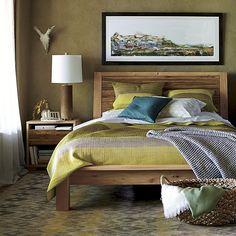 Sierra Queen Bed Headboard Detail Crate and Barrel Bedrooms