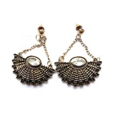 Antique Gold Basket Earrings, Bronze Basket Earrings,