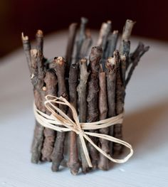rustic votive candle holders twigs   ... crafts activities diy candle holders # diy cement votive holders