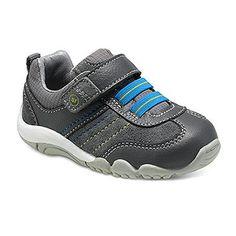 Stride Rite SRT Prescott Sneaker in Grey -  - Little Feet Childrens Shoes. #striderite #prescott #sneaker #grey #baby #boys #blue #cuteboyshoes #stafffavorite