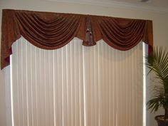 window treatments for large windows Curtains And Draperies, Valances, Drapery, Window Swags, Curtain Designs, Curtain Ideas, Custom Window Treatments, Living Room Windows, Window Dressings