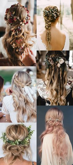 wedding hairstyle ideas hair pieces Everything You Need To Know About Wedding Hairstyles Floral Wedding Hair, Wedding Hair Pins, Bridal Hair Flowers, Short Wedding Hair, Bridal Hair Vine, Wedding Hair Down, Floral Hair, Hair Pieces For Wedding, Gold Wedding