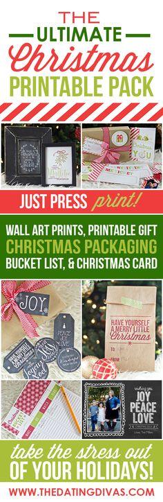 The Ultimate Christmas Printable Pack