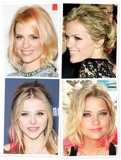 4 ways to wear pink hair. @Cybill - I'm going to make this happen one day. :-) LOl