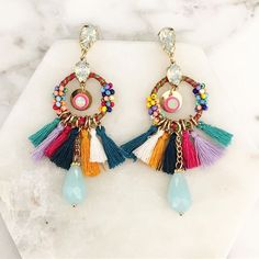 JUST IN ... Paradise Earrings ✣ $41.95 ✣ get your coloured tassel fix today at Miss Martini
