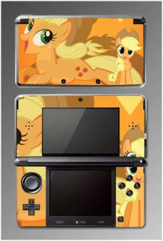 Video Game SKIN Cover for Nintendo 3DS of Applejack- from My Little Pony Friendship is Magic.