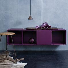 """Die Farbe """"deep purple"""" von qubing, das modulare Regalsystem."""